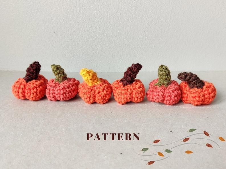 Mini Pumpkins PATTERN  Crochet Amigurumi Tutorial  Instant image 1