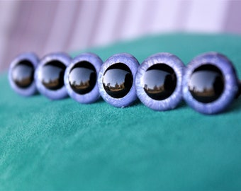 15mm Safety Eyes, 3 Pairs, Pearl reflection, for Toys and Dolls, Amigurumi, Handmade Toys, Plushes etc.