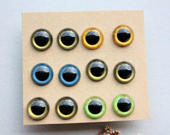 6 Pairs of 15mm Hand Painted Safety Eyes for Amigurumi Toys, Stuffed Animals, Handmade Dolls