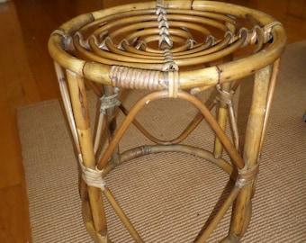 Strange Small Bamboo Table Etsy Interior Design Ideas Tzicisoteloinfo