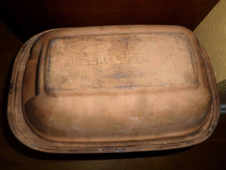 Rival CLAY CASSEROLE#4673LOAFBreadsRoastsStewsNaturalCleanPre Owned