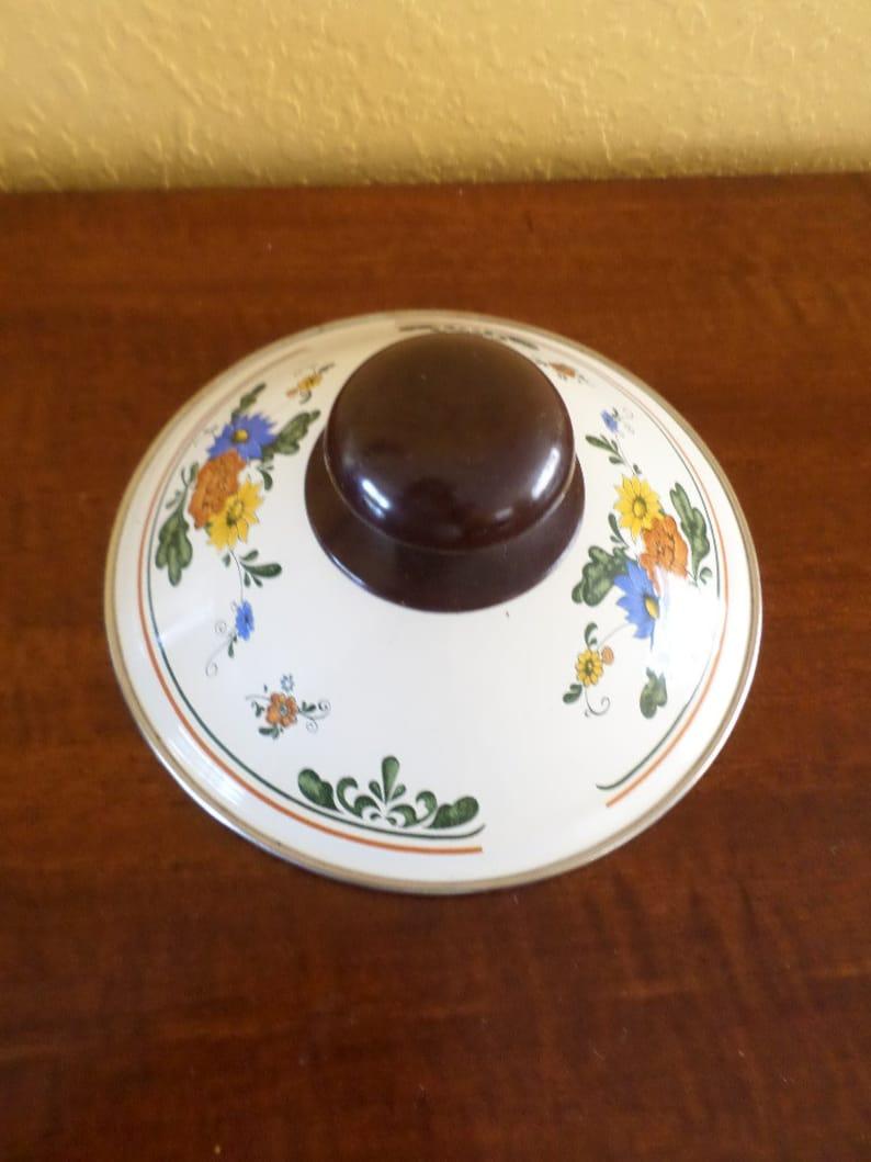 Asta COOKWAREGERMANYLID Wood TopOld AmsterdamPorcelain Tea Kettle Lid1980/'s