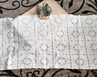 e432308ad6 Antique Table Runner - White Lace Table Decor Antique Home Decor Anniversary  Gift Housewarming Gift She Shed Decor White Lace Tablerunner