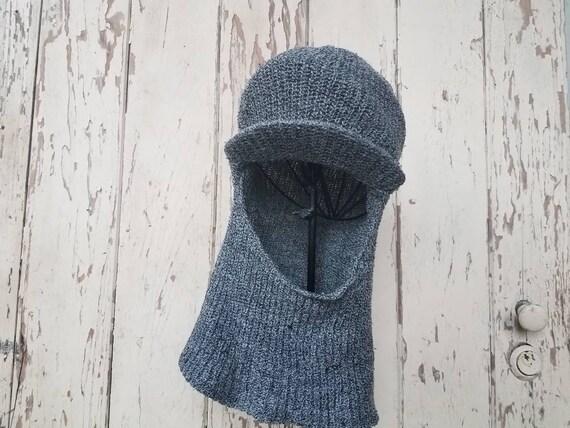 4c7c7e06 Mid Century Men's Winter Hat Vintage Gray Knit Winter | Etsy