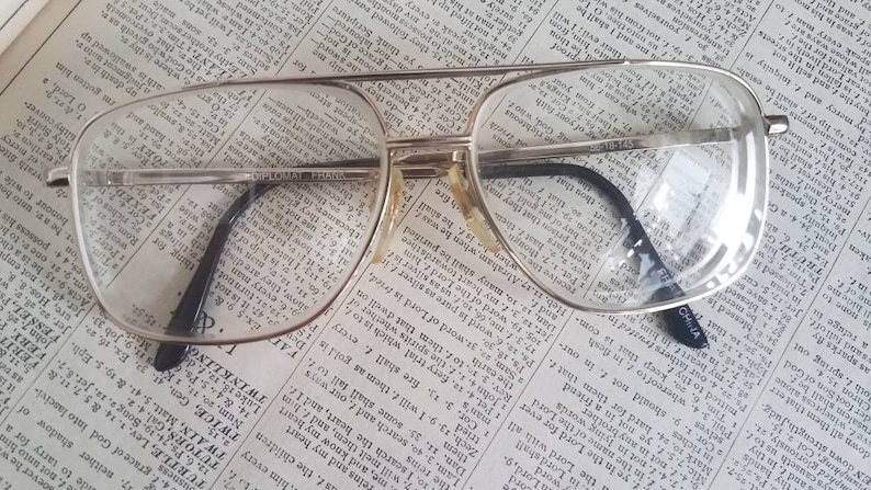 8b6a16c8d0 Metal Eyeglass Frames Vintage Gold Eyeglasses Men s