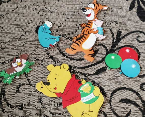 & Winnie The Pooh Wall Hanging Set Vintage Disney Wall Art