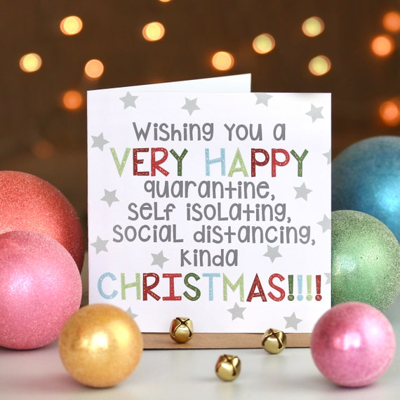 Happy Christmas Quarantine Social Distancing Star Card