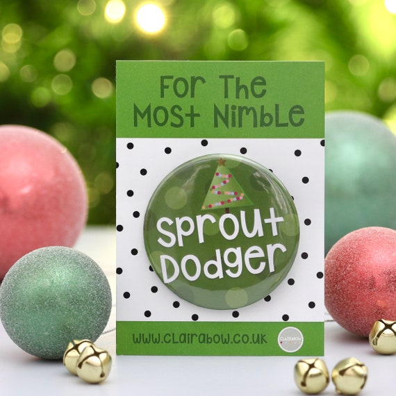 Sprout Dodger Christmas Badge