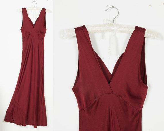 The Vida Dress   1930s satin slip dress   deep pin