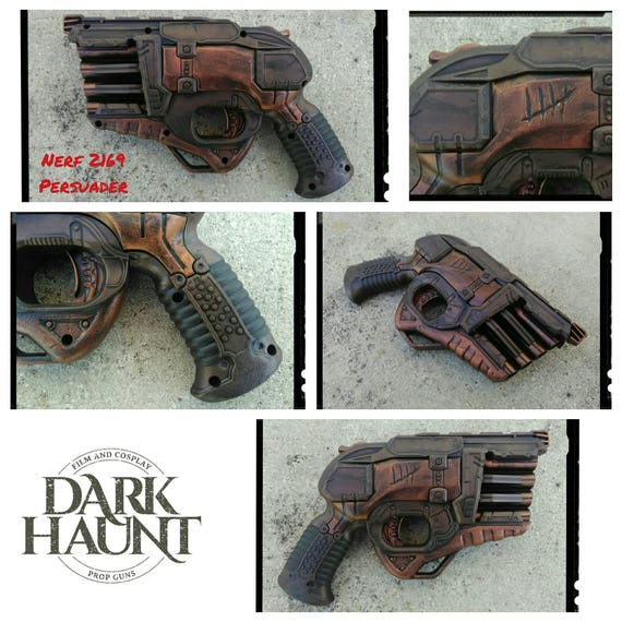 Nerf Doomlands 2169 Persuader Blaster - Apocalyptic, Zombie, Vampire,  Cosplay, Steampunk - (S Copper/Ruby)