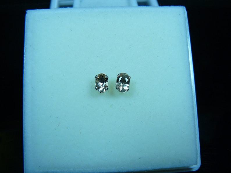 New 6x4mm Oregon Sunstone Earrings