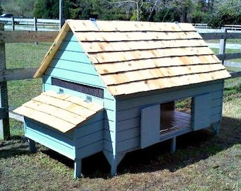 Chicken Coop Plans - New England Cape Style Poultry Duck PDF - House 6 Hens in Style - Easy Build DIY