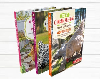 NEW! Mix + Match Chicken Keeping Books Signed by Author Lisa Steele of Fresh Eggs Daily