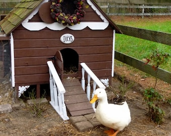 Gingerbread Duck House Plans PDF - Room in Coop for up to 6 Ducks or  8 Chickens - Easy Build DIY