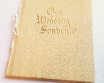 1921 Our Wedding Souvenir Booklet
