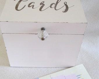 Greeting card organizer etsy card box shabby card box greeting card storage box large organizer personalized gift m4hsunfo