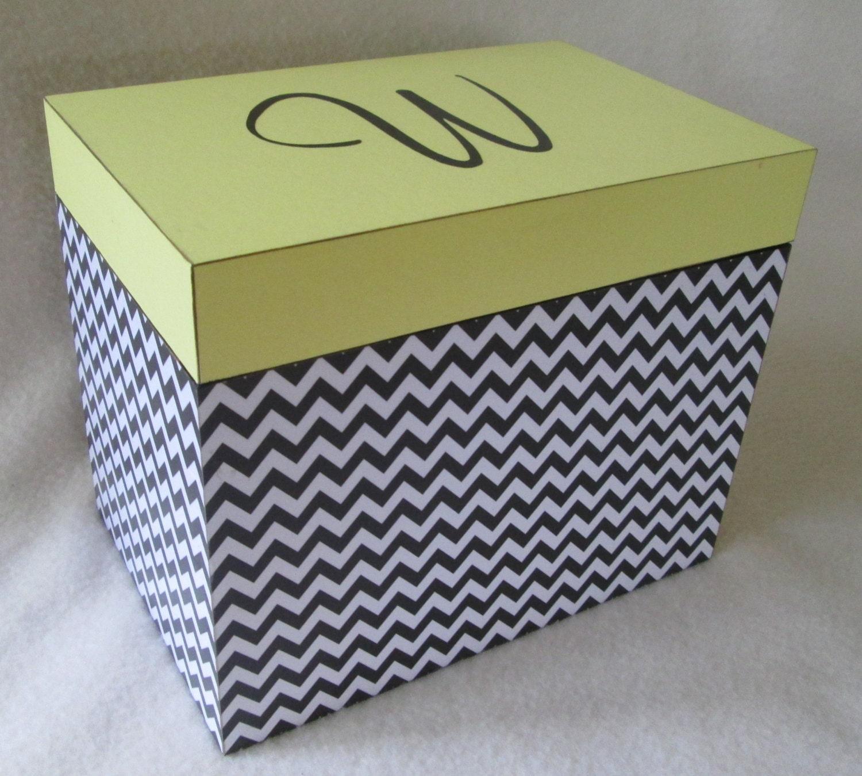 Large 5x7 Recipe Box Personalized Greeting Card Storage Etsy