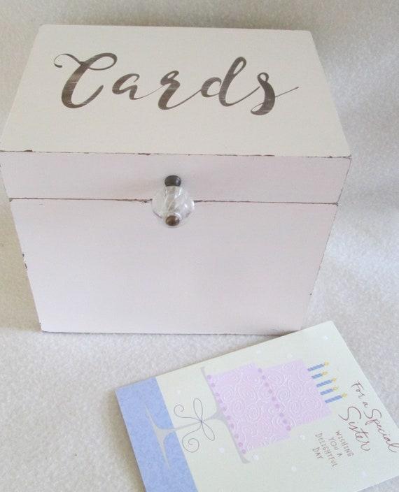Card box shabby card box greeting card storage box large etsy image 0 m4hsunfo