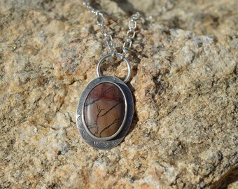 Sand Whip   Death Valley Picture Rock Necklace   Sterling Silver