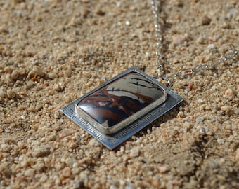 Infinite Skies   Death Valley Picture Rock Necklace   Sterling Silver