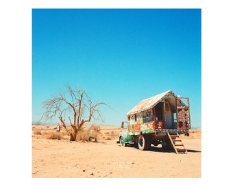 Print Only - Salvation Mountain Folk Leonard Knight Truck Bedroom Desert California Film Color 120mm Landscape Photography Photograph Square