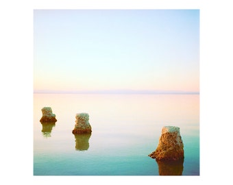 Print Only - Salton Sea California Film 120mm Pastel Sunset Sunrise Water Peaceful Landscape Waterscape Color Photography Photograph Square