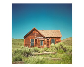 Print Only - 1800s Bodie Mining Silver Ghost Town Abandoned California Film Cabin Color 120mm Landscape House Photography Photograph Square