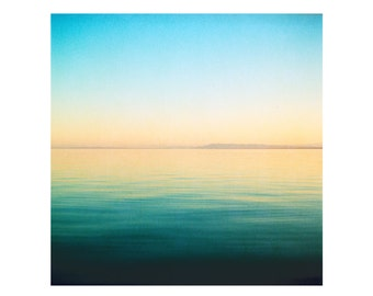 Print Only - Salton Water Waves California Film 120mm Sunset Sunrise Water Peaceful Landscape Nature Color Photography Photograph Square