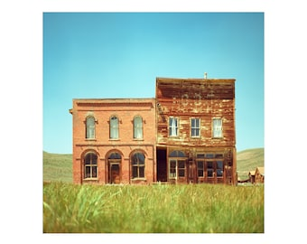 Print Only - 1800 Bodie Mining Silver Ghost Town Abandoned California Film General Store Color 120mm Landscape Photography Photograph Square