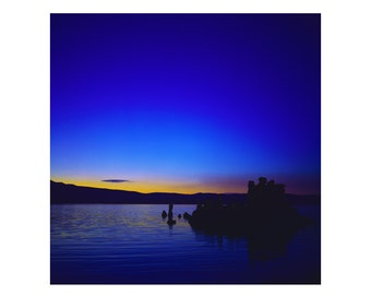Print Only - Mono Lake Tuffa Rocks California Film 120mm Sunset Sunrise Water Peaceful Landscape Nature Color Photography Photograph Square
