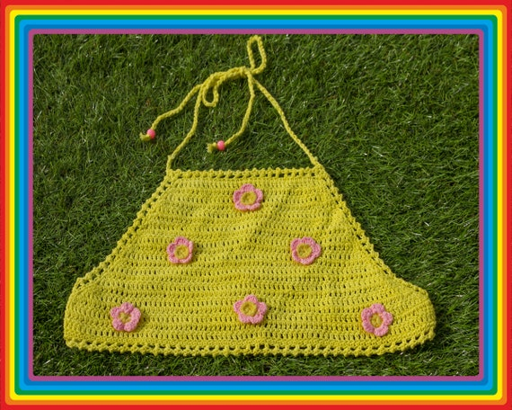 Vintage Deadstock 90s Bright Yellow Baby Pastel Pi