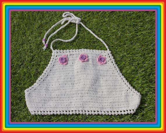 Vintage Deadstock 90s White Pastel Pink Lavender S