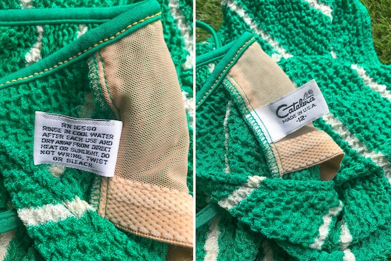 M Striped Bra Neck 80s Chevron L Cross Vintage White Shorts Low Romper One Green Back Textured 12 Swimsuit Belted Shelf V Barbie Piece Sea Cw1OxOZq04
