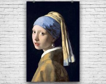 Girl with a Pearl Earring, Johannes Vermeer, 1665 Vintage Art Print