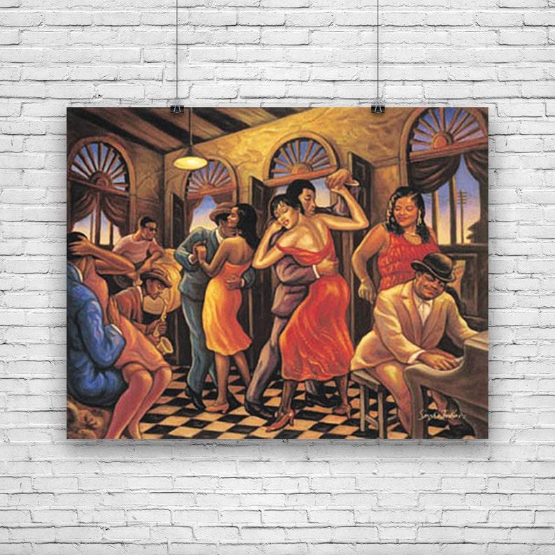 First Dance Sarah Jenkins African American Art Print 24x36
