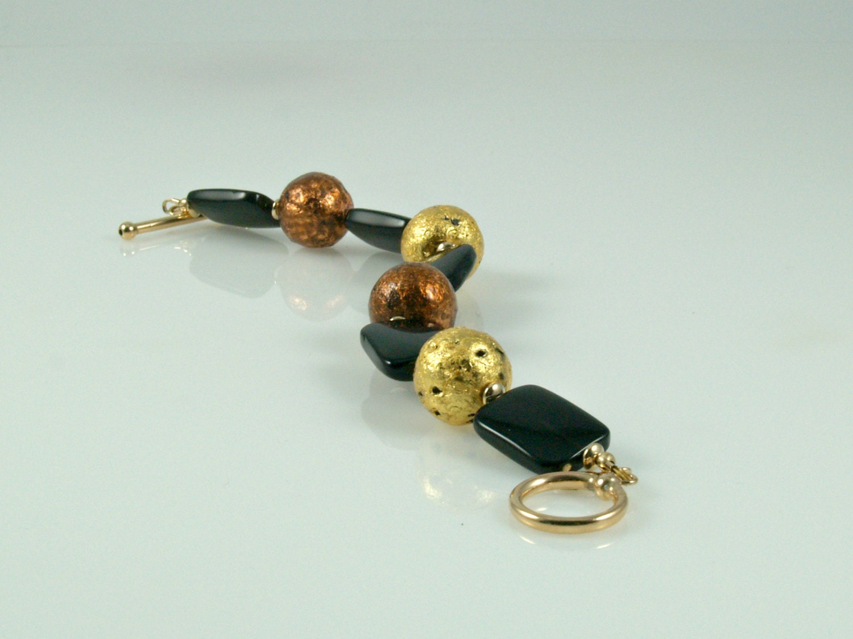 I Am Loved Bracelet Toggle Closure Gold /& Copper 7.5