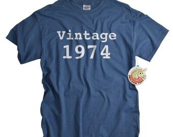 40th Birthday Gift 40 Shirt For Man Or Woman 1974 Tshirt Vintage T Ideas