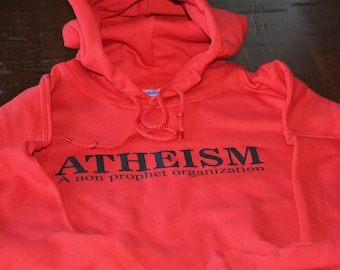 ad11ee2e2 Atheism hoodie a non prophet organization athiest hooded sweatshirt science  scientific funny geek evolution warm sweater unisex men women