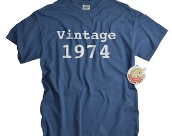 40th birthday gift 40 birthday shirt for man or woman 1974 shirt birthday tshirt gift Vintage 1974 t shirt 40th birthday ideas