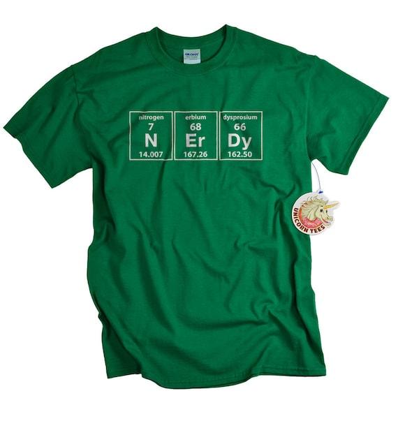 N ER DY Periodic Table WOMENS T-SHIRT tee birthday geek geeky nerdy chemistry