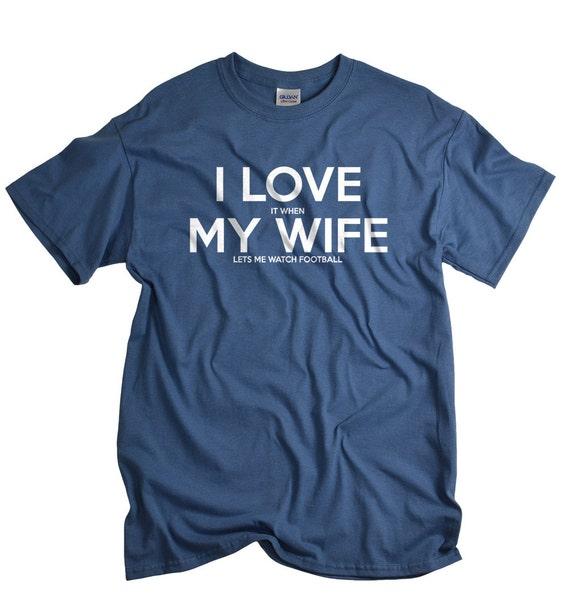 Mens Clothing Football gift for husband funny football shirt I  aa8d6d6b3