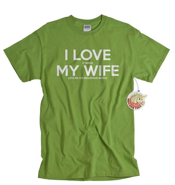 Mountain Biking Shirt I Love It When My Wife Brand Lets Me Go Etsy