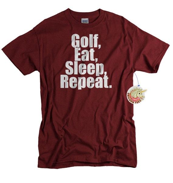 Birthday Gift For Boyfriend Golfer Golf Eat Sleep Repeat Shirt