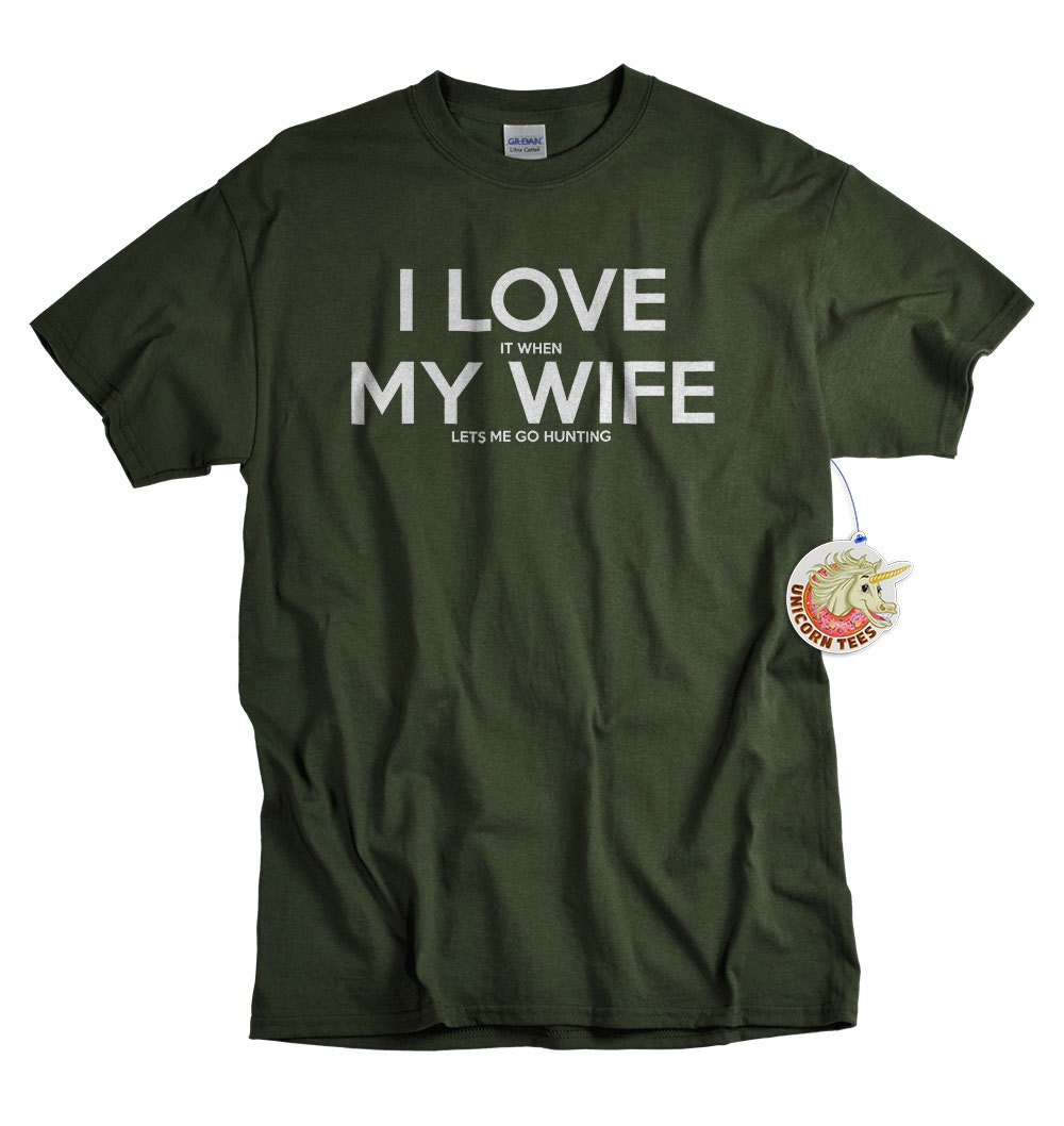 Christmas Gifts for Husband - Mens Gift - Hunting Gifts - Stocking Stuffers for Men - I Love My Wife Shirt
