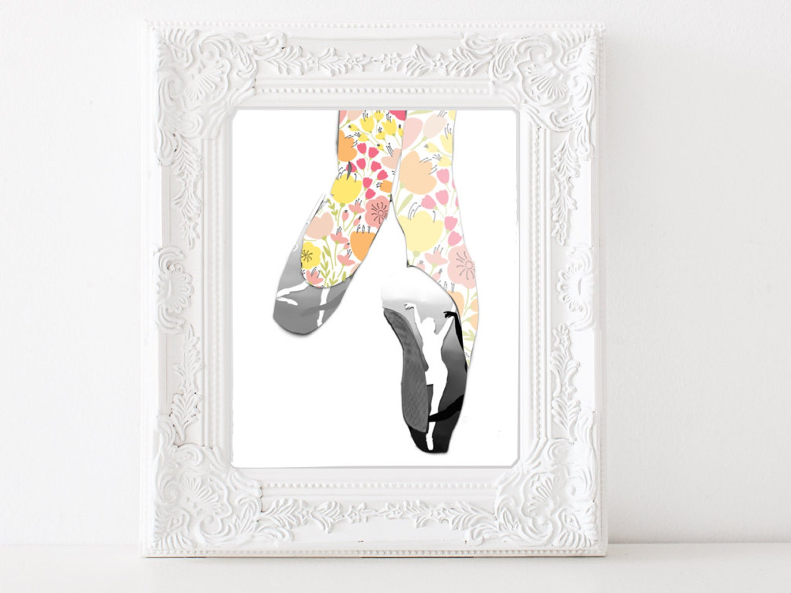 digital ballet shoe print pointe shoe ballet decor home decor printable wall art prints dance print wall art ballet studio insta