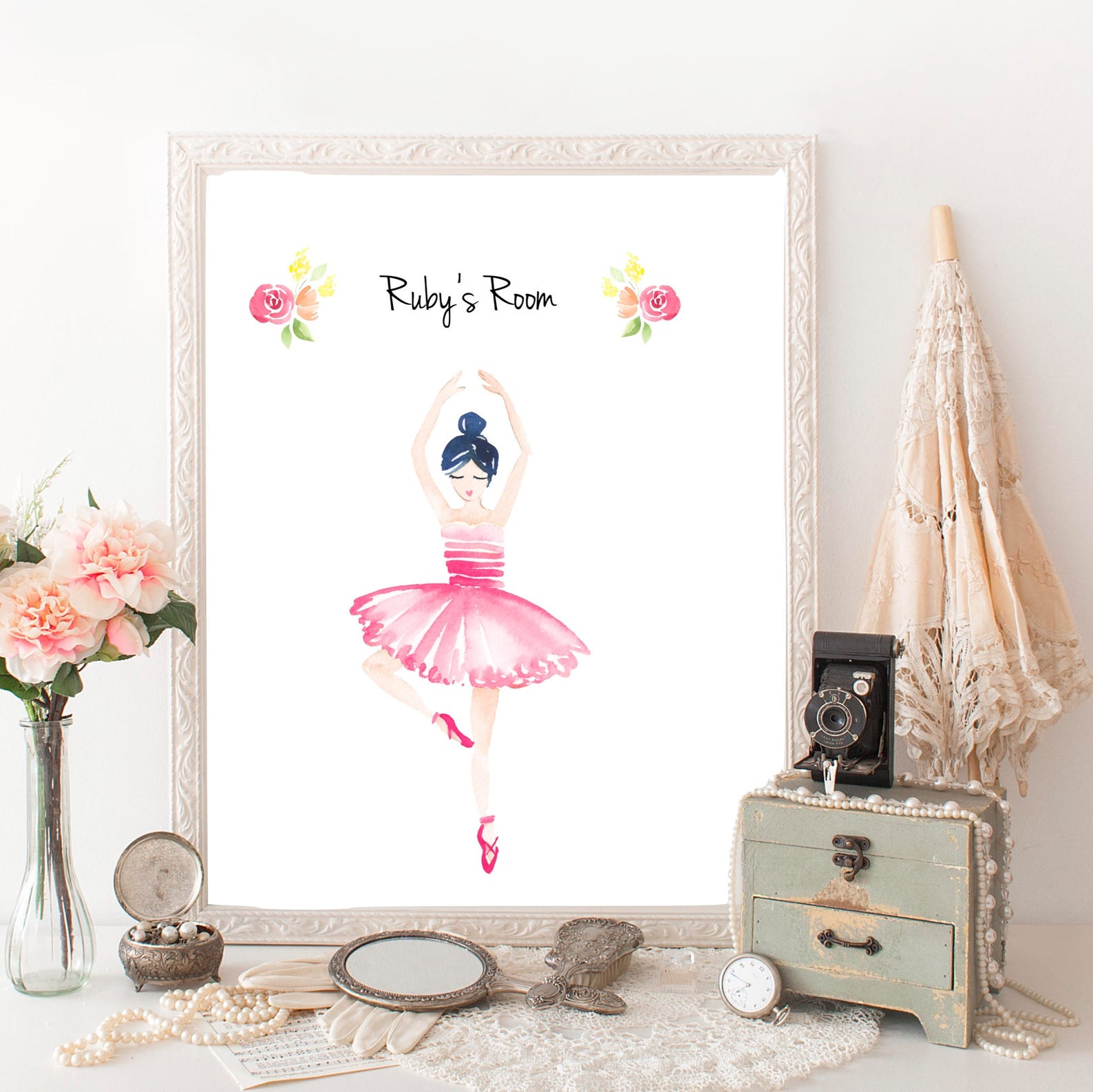 Ballerina Personalized Digital Print Diy Home Decor Wall Art