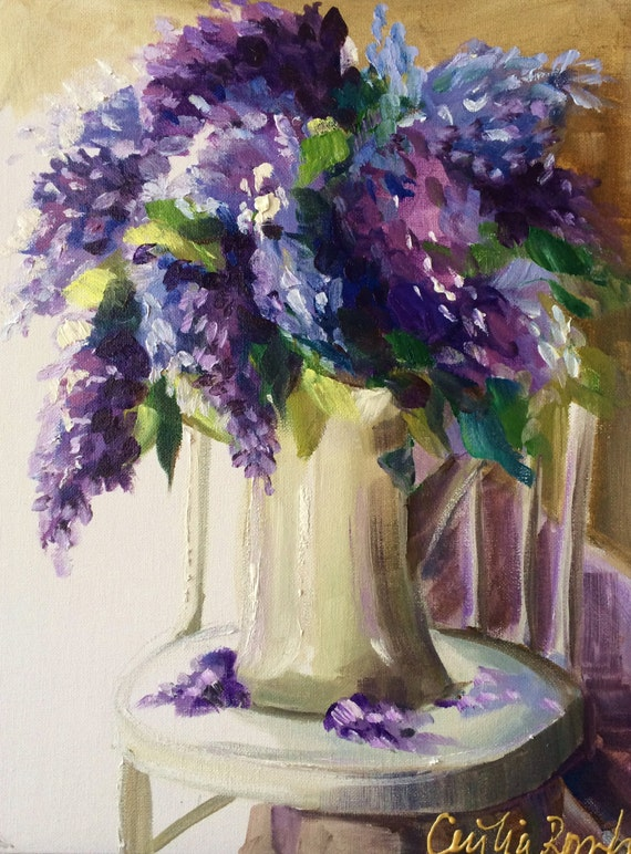 Still Life Bouquet Lilacs Art Print Home Decor Wall Art Poster C