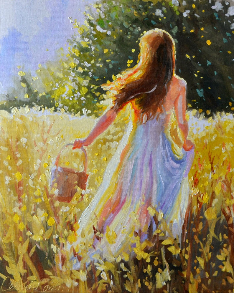 Best Seller Art  16 X 20 Painting Original  INTO THE image 0