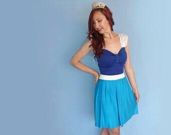 Sleeping Beauty Dress - Princess Costume - Disneybound Dress - Aurora Blue Dress - Blue Dress - Lace Sleeves - Sleeping Beauty Dapper Day