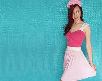 Sleeping Beauty Dress - Princess Costume - Sleeping Beauty Disneybound Dress - Pink Dress - Lace Sleeves - Sleeping Beauty - Dapper Day